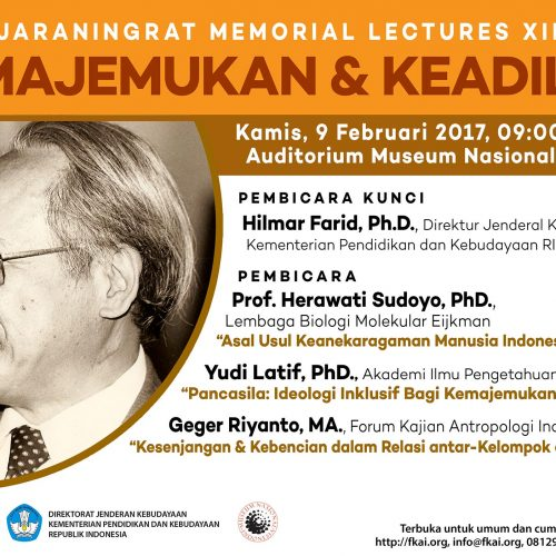 Press Release: Koentjaraningrat Memorial Lectures XIII/2017